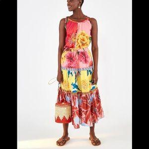 Farm Rio Mixed Garden Maxi Skirt Size S